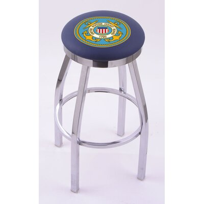 "Holland Bar Stool US Military Single Chrome Ring Swivel Barstool  - Size: 30"" Height, Team: United States Coast Guard at Sears.com"