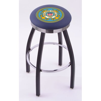 "Holland Bar Stool US Military Single Ring Swivel Barstool with Chrome Solid Base - Size: 30"" Height, Team: United States Coast Guard at Sears.com"