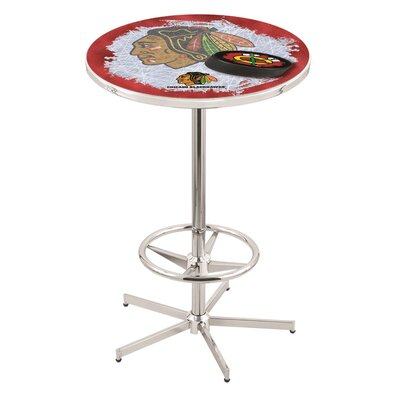 NHL Pub Table NHL Team: Chicago Blackhawks (Red Background)