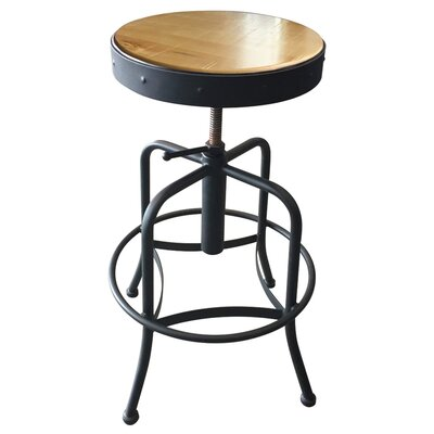 Adjustable Bar Stool Fabric: Beech - Natural