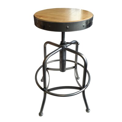 Swivel Adjustable Height Bar Stool Upholstery: Natural