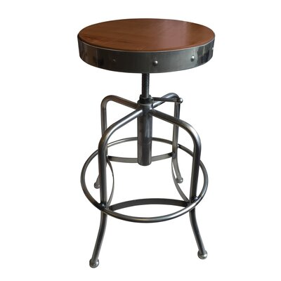 Swivel Adjustable Height Bar Stool Upholstery: Beech