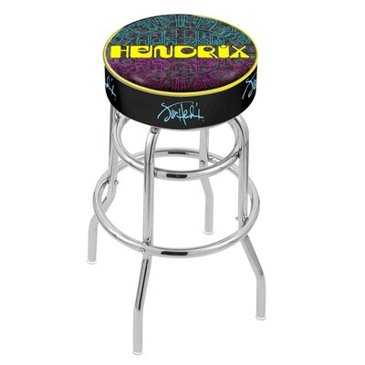 Jimi Hendrix 25 Swivel Bar Stool with Cushion