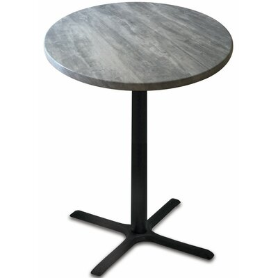 Bar Table Top Finish: Greystone, Table Size: 30 L x 30 W
