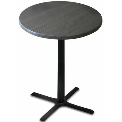 Bar Table Top Finish: Charcoal, Table Size: 30 L x 30 W