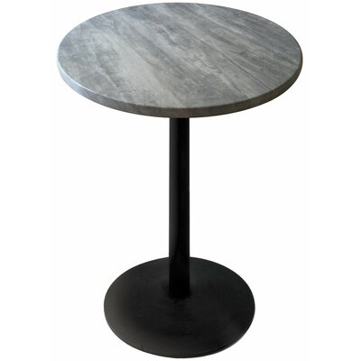 Bar Table Color: Graystone, Table Size: 30 L x 30 W