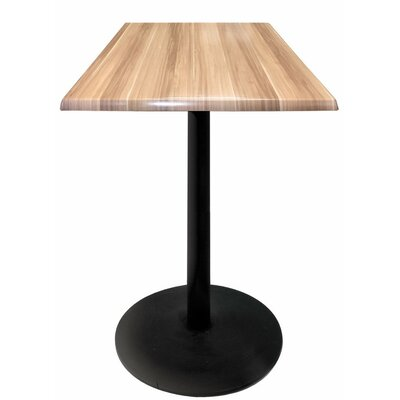 Bar Table Color: Natural, Table Size: 30 L x 30 W