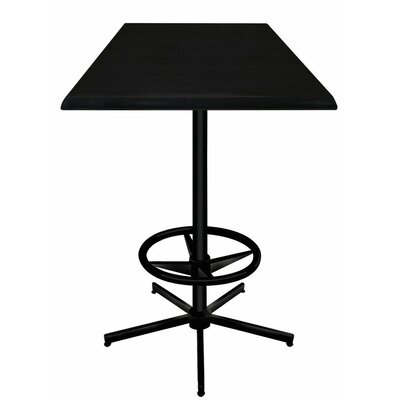 Bar Table Top Finish: Black, Table Size: 36 L x 36 W
