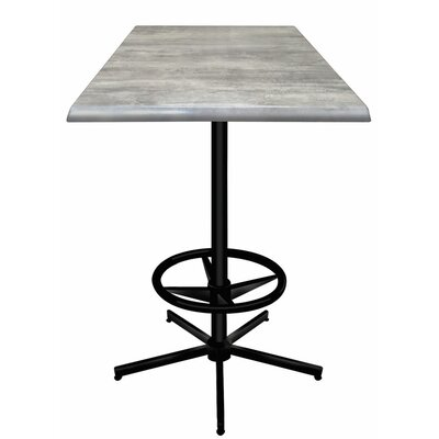 Bar Table Top Finish: Graystone, Table Size: 30 L x 30 W