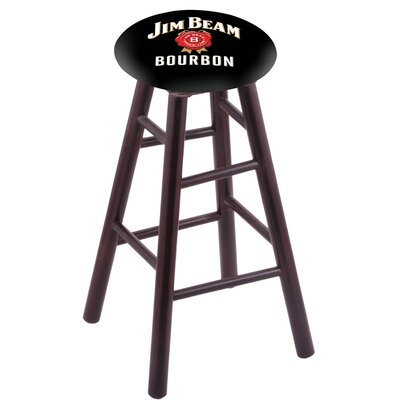 36 inch Bar Stool with Cushion Finish: Dark Cherry