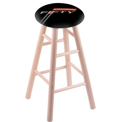 24 Bar Stool with Cushion Finish: Natural
