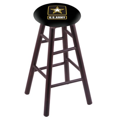 24 inch Bar Stool with Cushion Finish: Dark Cherry