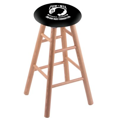 30 inch Bar Stool with Cushion Finish: Natural