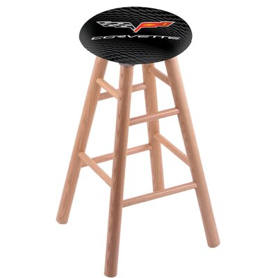18 inch Bar Stool with Cushion Finish: Natural