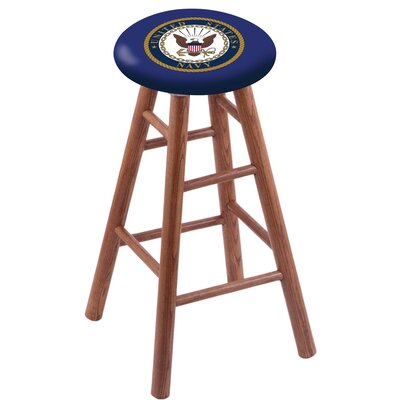 24 inch Bar Stool with Cushion Finish: Medium