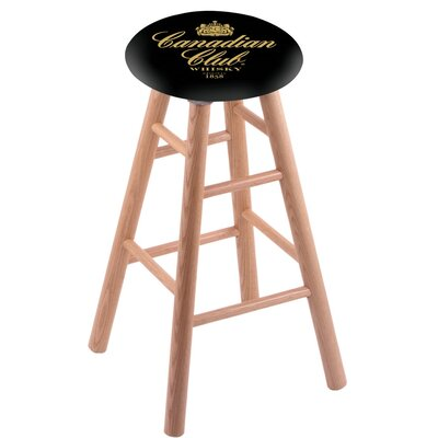 18 Bar Stool with Cushion Finish: Natural