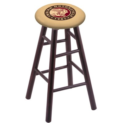 18 Bar Stool with Cushion Finish: Dark Cherry