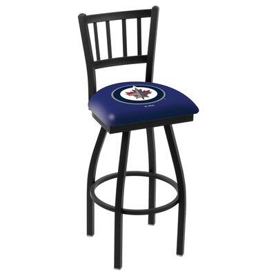 NHL 36 inch Swivel Bar Stool NHL Team: Winnipeg Jets