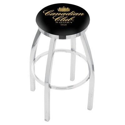 36 Swivel Bar Stool Finish: Chrome