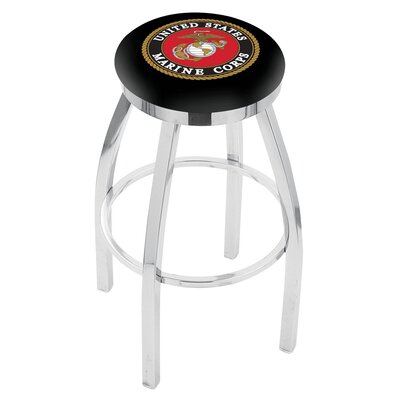 36 Swivel Bar Stool Branch: Marines, Finish: Chrome