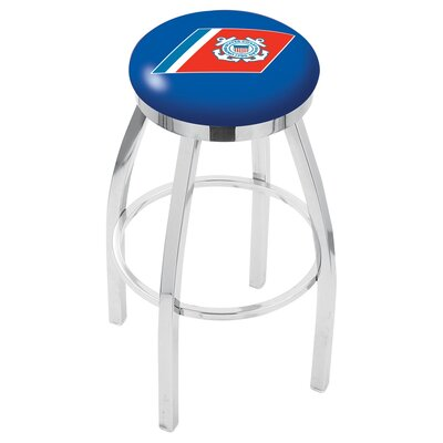 36 Swivel Bar Stool Branch: Coast Guard, Finish: Chrome