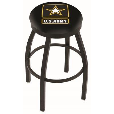 36 Swivel Bar Stool Branch: Army, Finish: Black