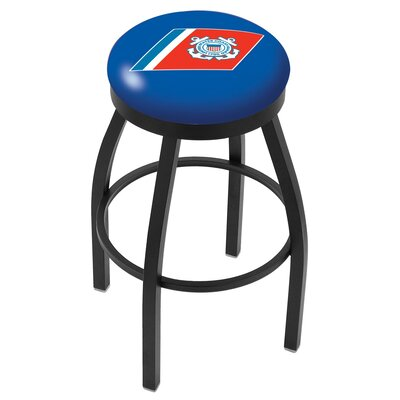 36 Swivel Bar Stool Branch: Coast Guard, Finish: Black