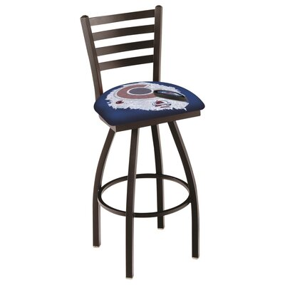 NHL Swivel Bar Stool with Cushion NHL Team: Colorado Avalanche