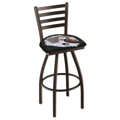NHL Swivel Bar Stool with Cushion NHL Team: Philadelphia Flyers - Black