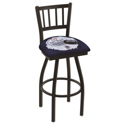 NHL Swivel Bar Stool with Cushion NHL Team: Edmonton Oilers