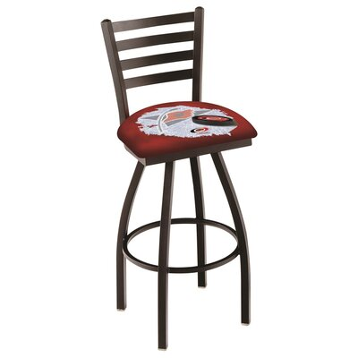 NHL Swivel Bar Stool with Cushion NHL Team: Carolina Hurricanes