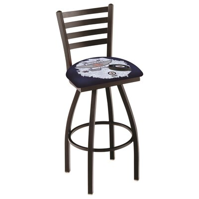 NHL Swivel Bar Stool with Cushion NHL Team: Winnipeg Jets