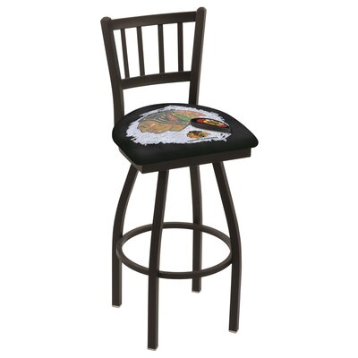 NHL Swivel Bar Stool NHL Team: Chicago Blackhawks - Black