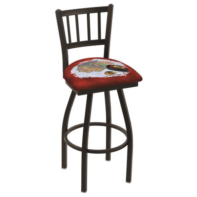NHL Swivel Bar Stool NHL Team: Chicago Blackhawks - Red