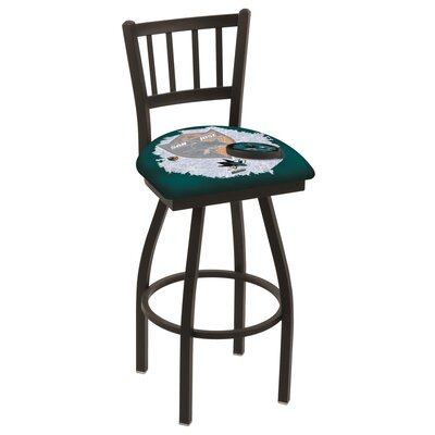 NHL Swivel Bar Stool with Cushion NHL Team: San Jose Sharks