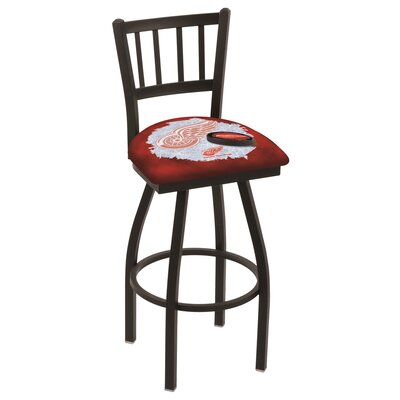 NHL Swivel Bar Stool with Cushion NHL Team: Detroit Red Wings