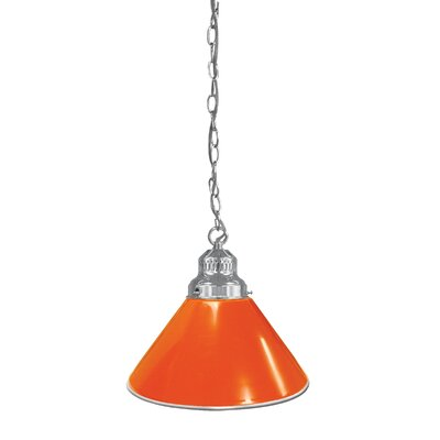 1-Light Mini Pendant Finish: Chrome, Shade Color: Orange