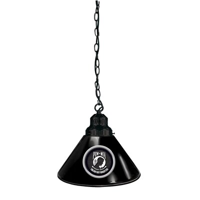 POW/MIA 1-Light Mini Pendant Finish: Black