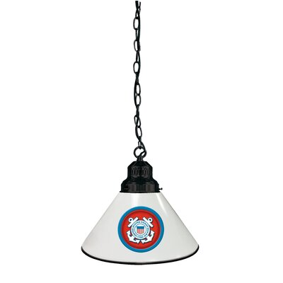 U.S. Armed Forces 1-Light Mini Pendant Finish: Black, Shade Color: Blue, Branch: U.S. Navy