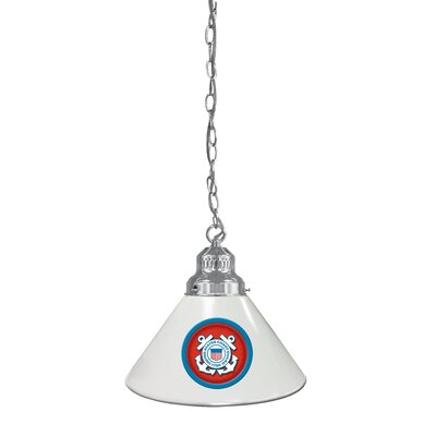 U.S. Armed Forces 1-Light Mini Pendant Finish: Chrome, Shade Color: Black, Branch: U.S. Army