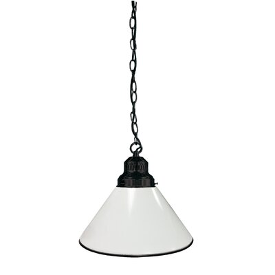1-Light Mini Pendant Finish: Black, Shade Color: White