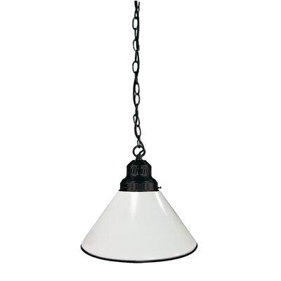 1-Light Mini Pendant Finish: Black, Shade Color: White