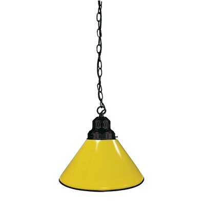 1-Light Mini Pendant Finish: Black, Shade Color: Yellow