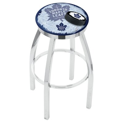 NHL 25 Swivel Bar Stool with Cushion NHL Team: Toronto Maple Leafs