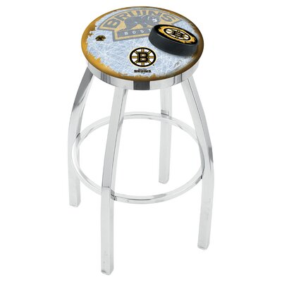 NHL 25 Swivel Bar Stool with Cushion NHL Team: Boston Bruins