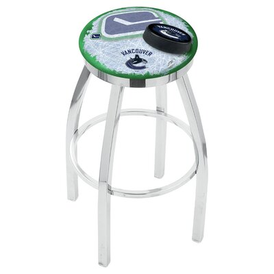 NHL 25 Swivel Bar Stool with Cushion NHL Team: Vancouver Canucks