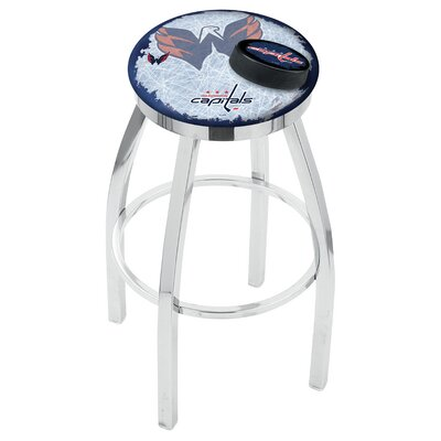 NHL Swivel Bar Stool with Cushion NHL Team: Washington Capitals