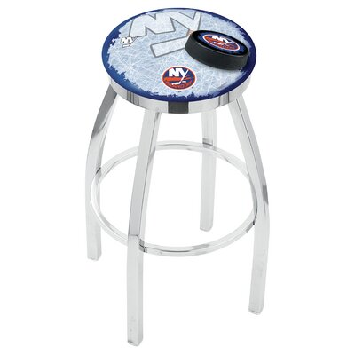 NHL 25 inch Swivel Bar Stool with Cushion NHL Team: New York Islanders
