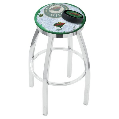 NHL 25 Swivel Bar Stool NHL Team: Minnesota Wild