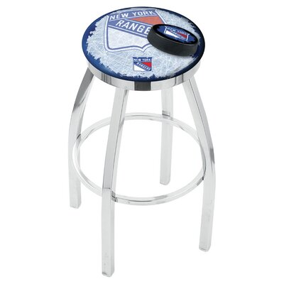 NHL 25 inch Swivel Bar Stool with Cushion NHL Team: New York Rangers
